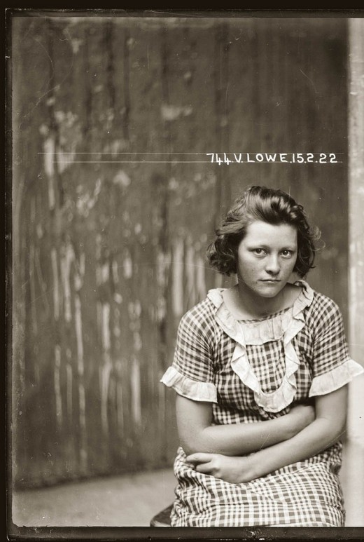 Portraits of Australian criminals from the 20s