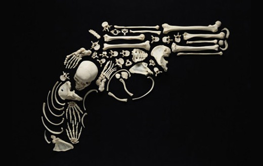 """Stop The Violence"" Bone Art by Francois Rober"